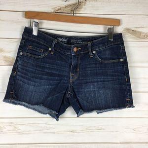 Dark denim cut off jean shorts